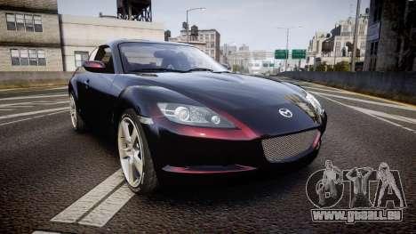 Mazda RX-8 2006 v3.2 Pirelli tires pour GTA 4