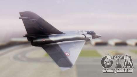 Dassault Mirage 4000 French Air Force pour GTA San Andreas laissé vue