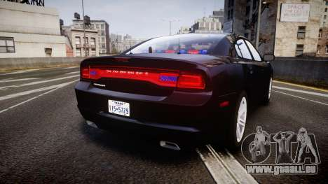 Dodge Charger SWAT Tactical Unit [ELS] rbl pour GTA 4 Vue arrière de la gauche