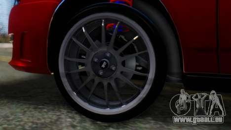 VAZ 2170 AMG pour GTA San Andreas sur la vue arrière gauche