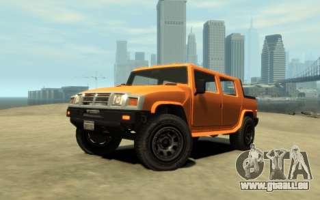 Mammoth Patriot Pickup v2 für GTA 4 rechte Ansicht