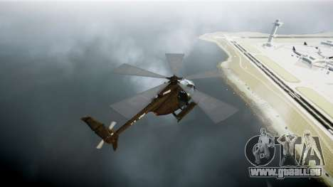 MH-6 Little Bird pour GTA 4 Vue arrière de la gauche