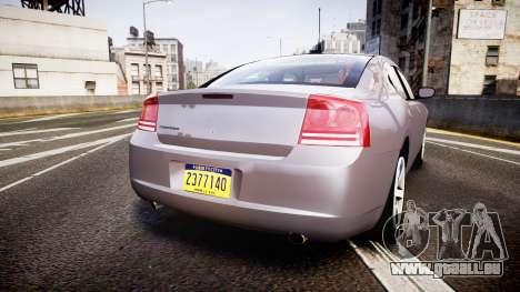 Dodge Charger Police Unmarked [ELS] pour GTA 4 Vue arrière de la gauche