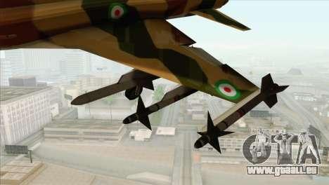 Northrop F-5ES IRIAF pour GTA San Andreas vue de droite