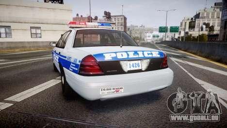 Ford Crown Victoria Liberty Police [ELS] für GTA 4 hinten links Ansicht