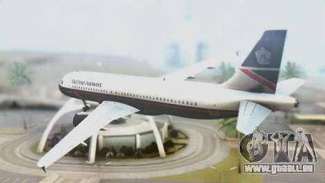 Airbus A320-200 British Airways für GTA San Andreas linke Ansicht
