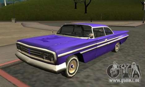 Luni Voodoo Remastered für GTA San Andreas linke Ansicht