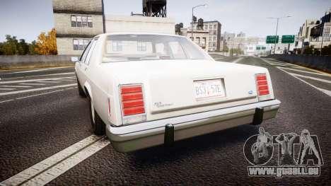 Ford LTD Crown Victoria 1987 Detective [ELS] v2 pour GTA 4 Vue arrière de la gauche