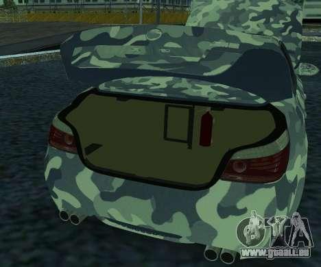 BMW M5 E60 RCS pour GTA San Andreas laissé vue