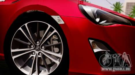 Toyota GT86 (ZN6) 2012 PJ für GTA San Andreas zurück linke Ansicht