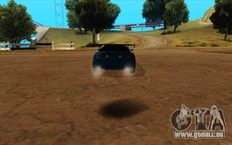 Toyota Supra Blue Robot pour GTA San Andreas laissé vue