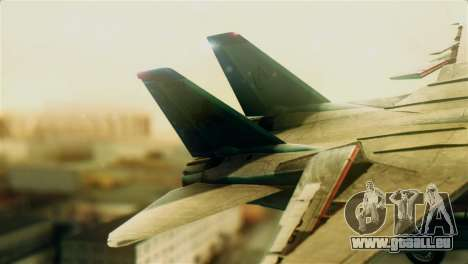 F-14D VF-213 Black Lions für GTA San Andreas zurück linke Ansicht