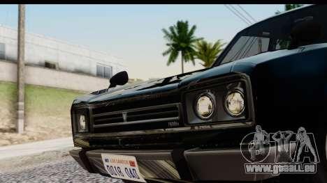 GTA 5 Vulcar Warrener IVF für GTA San Andreas zurück linke Ansicht