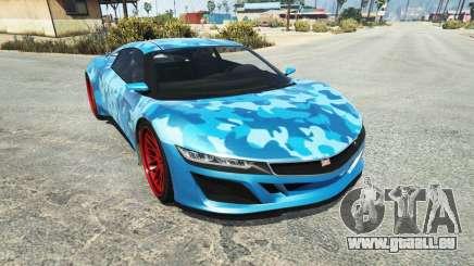 Dinka Jester (Racecar) Camo Blue pour GTA 5