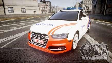 Audi S4 Avant Belgian Police [ELS] orange pour GTA 4
