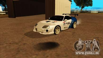 Toyota Supra Blue Robot pour GTA San Andreas