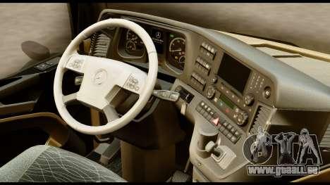 Mercedes-Benz Actros MP4 4x2 Standart Interior für GTA San Andreas rechten Ansicht