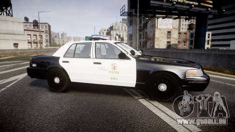 Ford Crown Victoria 2011 LAPD [ELS] rims2 für GTA 4 linke Ansicht