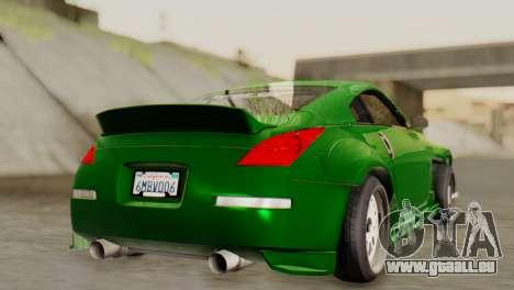 Nissan 350Z pour GTA San Andreas laissé vue