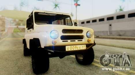 UAZ hunter pour GTA San Andreas vue de droite