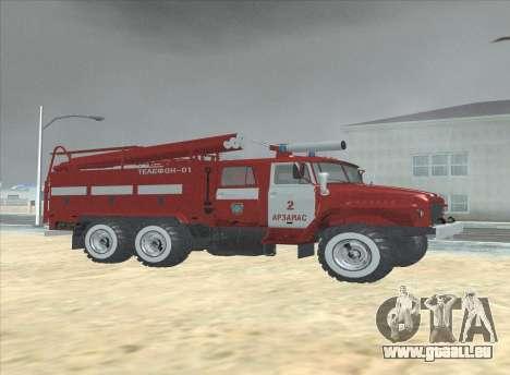 Oural 375 Pompier pour GTA San Andreas sur la vue arrière gauche