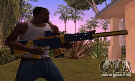 M4 BlueYellow für GTA San Andreas