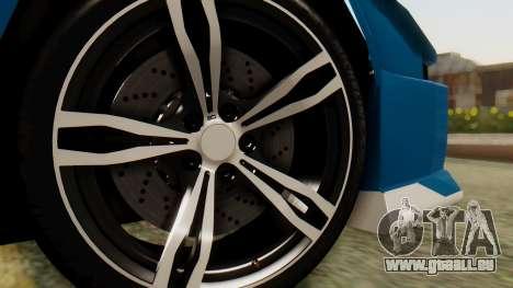 Infernus BMW Revolution pour GTA San Andreas sur la vue arrière gauche