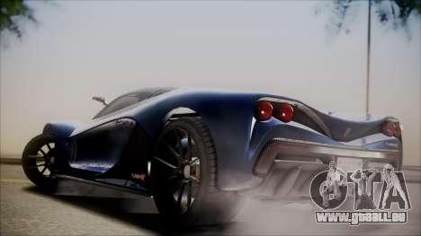 GTA 5 Grotti Turismo R SA Style pour GTA San Andreas vue arrière