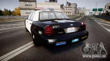 Ford Crown Victoria 2011 LAPD [ELS] rims2 pour GTA 4 Vue arrière de la gauche