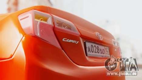 Toyota Camry 2012 pour GTA San Andreas vue de côté