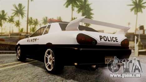 Elegy Saitama Prefectural Police für GTA San Andreas linke Ansicht