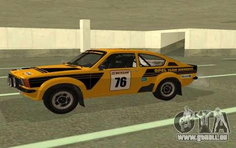 Opel Kadett Rally pour GTA San Andreas laissé vue