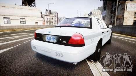 Ford Crown Victoria Bohan Police [ELS] unmarked pour GTA 4 Vue arrière de la gauche