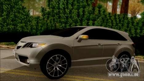 Acura RDX 2009 pour GTA San Andreas vue de côté