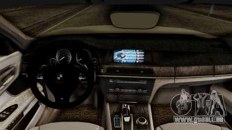 BMW 7 Series F02 2012 pour GTA San Andreas vue de droite