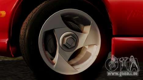 Dodge Viper RT 10 1992 pour GTA San Andreas sur la vue arrière gauche
