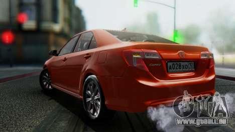 Toyota Camry 2012 pour GTA San Andreas vue arrière