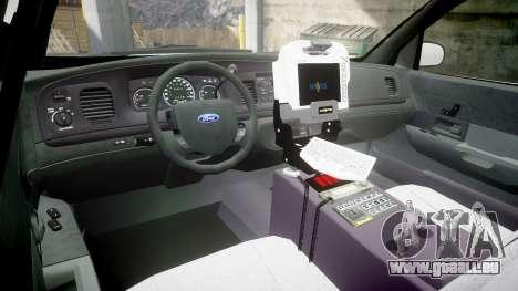 Ford Crown Victoria Bohan Police [ELS] WL pour GTA 4 Vue arrière