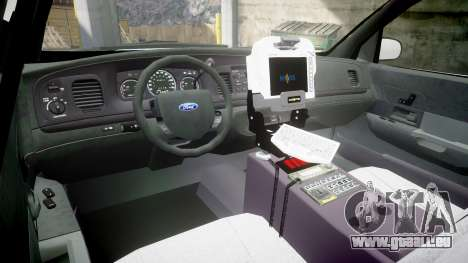 Ford Crown Victoria Bohan Police [ELS] unmarked pour GTA 4 Vue arrière