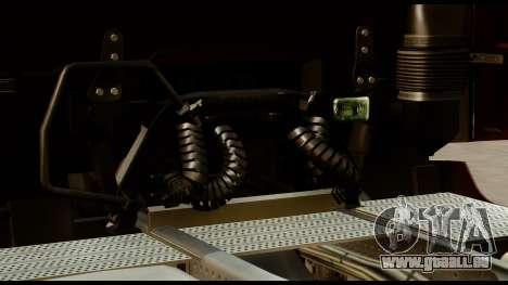 Mercedes-Benz Actros MP4 4x2 Standart Interior für GTA San Andreas Rückansicht
