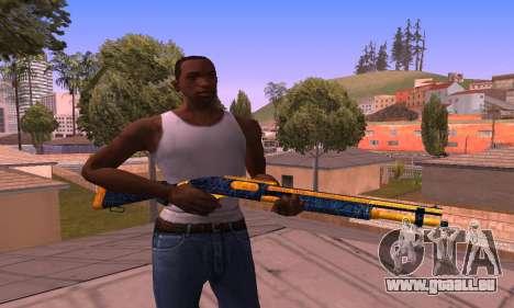 Shotgun BlueYellow pour GTA San Andreas