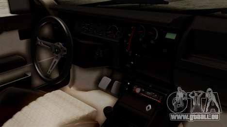 Renault 11 Turbo pour GTA San Andreas vue de droite