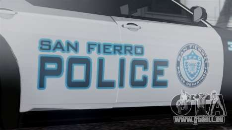 Hunter Citizen Police SF IVF pour GTA San Andreas vue de droite