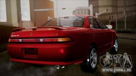 Toyota Mark II X90 pour GTA San Andreas laissé vue