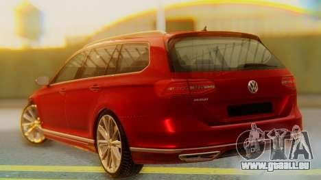 Volkswagen Passat Variant R-Line pour GTA San Andreas laissé vue
