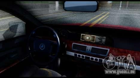 BMW 760Li E66 pour GTA San Andreas vue de droite
