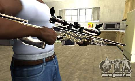 Gold Dragon Sniper Rifle pour GTA San Andreas
