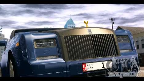Rolls-Royce Phantom 2013 Coupe v1.0 pour GTA 4 Vue arrière