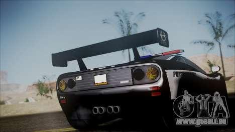 NFS Rivals McLaren F1 LM pour GTA San Andreas sur la vue arrière gauche