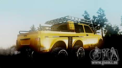 VAZ Niva 2121 6x6 pour GTA San Andreas laissé vue